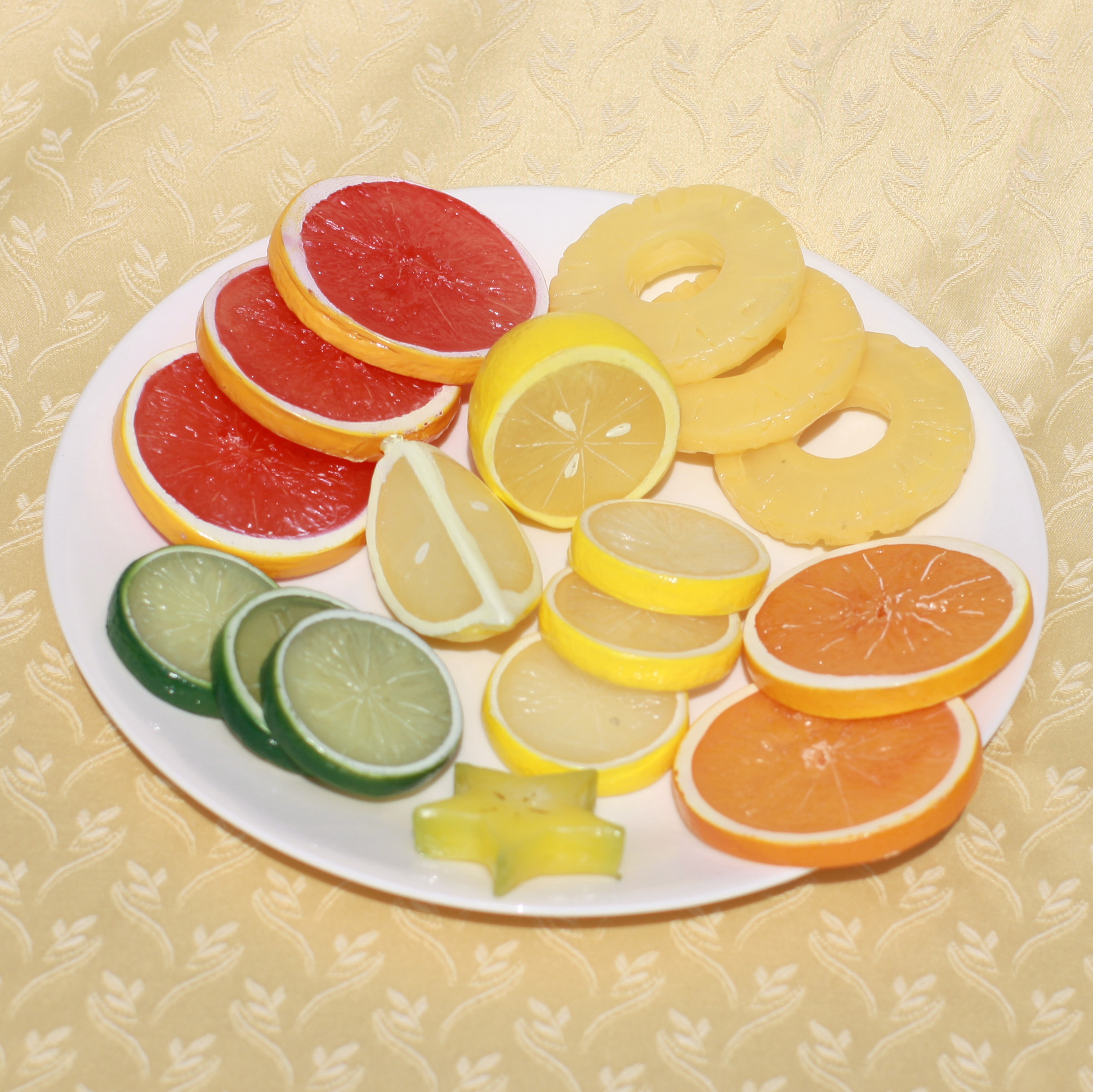 Artificial Fruit Slices & Wedges